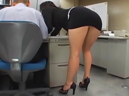 Japanese office girl gets fucked by two co-workers