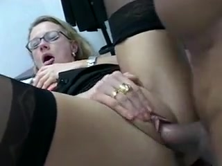 Office MILF in black nylons Free adult amateur tube
