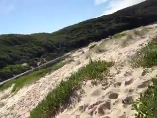 nude beach and dunes fun Shaved redhead