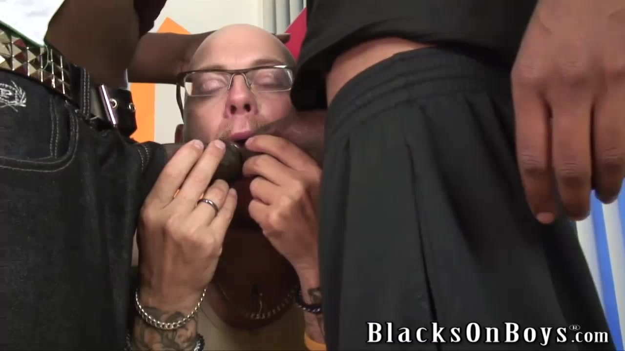 Tattooed white thug sucking black cocks for cash hanna barbera nude