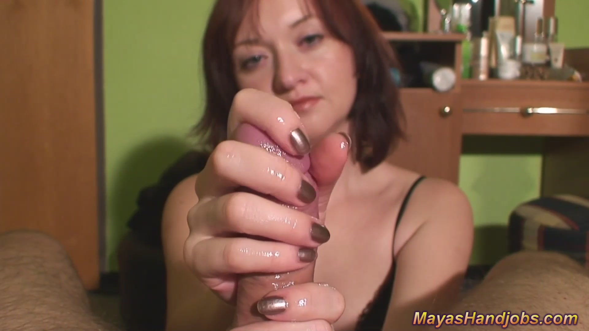 huge cumshot for Maya having sex with a retard