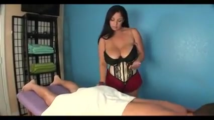 Mature with huge tits massages a guy Hughes ad nice tits