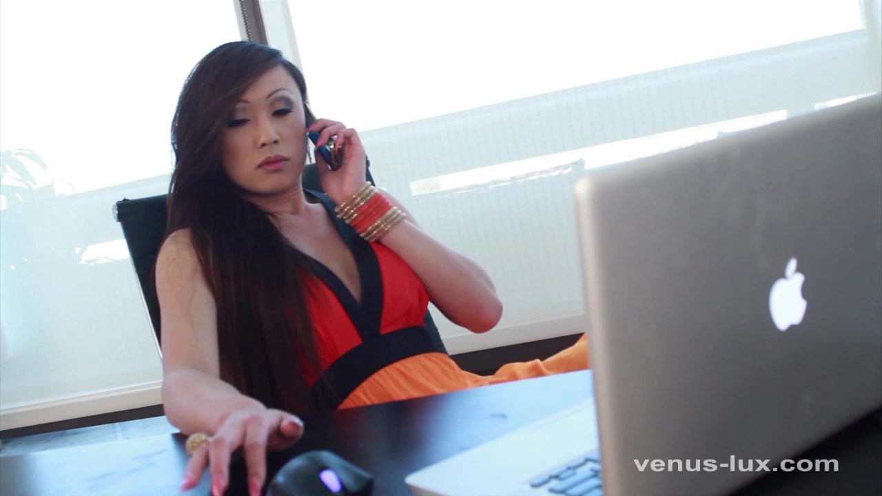 Venus Lux Strokes Her Hard Cock For Orgasm Girl fingering herself selfie