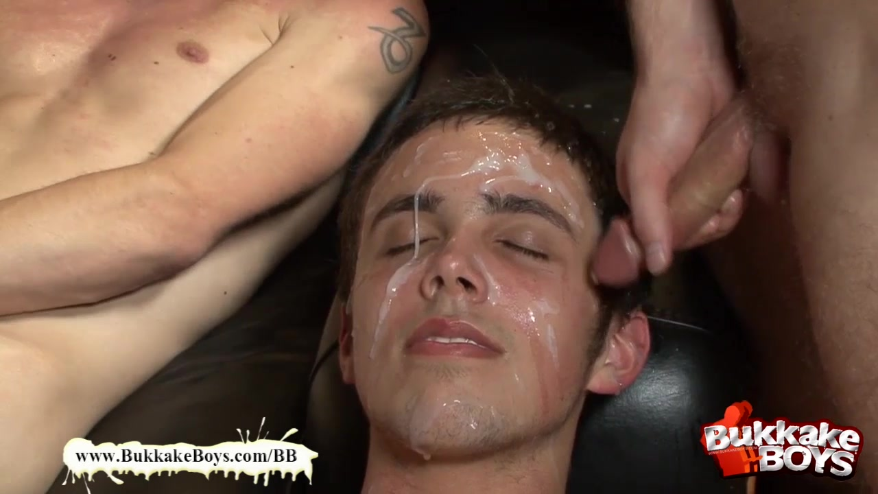 Bukkake Boys - Take it deep bukkake boy! watching a girl deep throat
