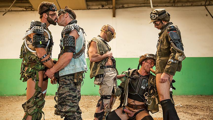 Damien Crosse, Dario Beck, Hector De Silva, Jay Roberts, Paddy OBrian in Apocalypse Part 4 - JizzOrgy big cock fucks big ass