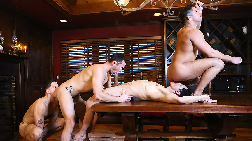 Brenner Bolton, Rafael Alencar, Roman Todd, Seth Santoro in Godfather Part 4 - JizzOrgy hot woman naked haveing sex