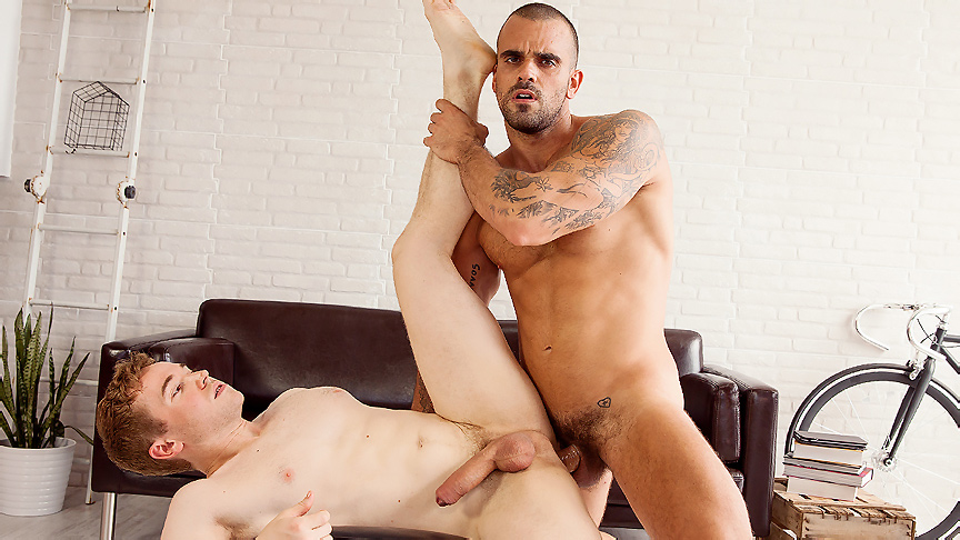Damien Crosse & Gabriel Cross in Room In Madrid Part 1 - MenOfUk Amara Romani's ass hole swallows his cock entirely
