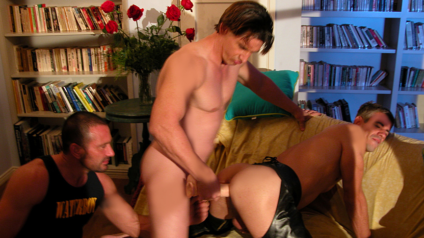 Brady Martin & Mark Galifiore & Ty Hudson in Behind The Secret Door Scene 3 - Bromo black old lady sex