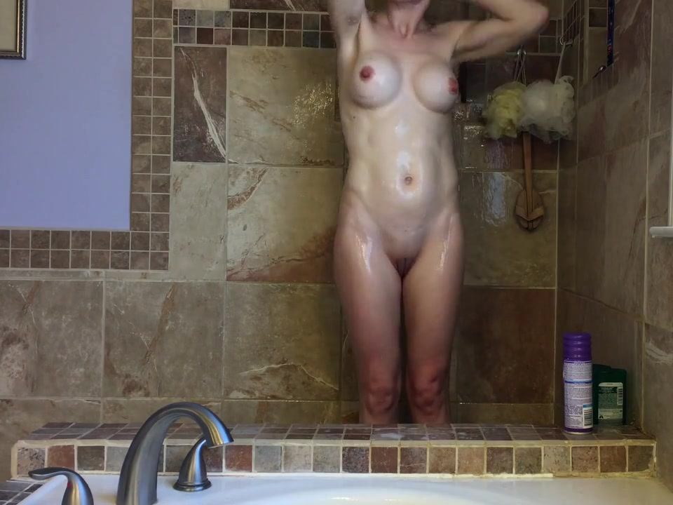 Milf caught showering girl pooping in white panty