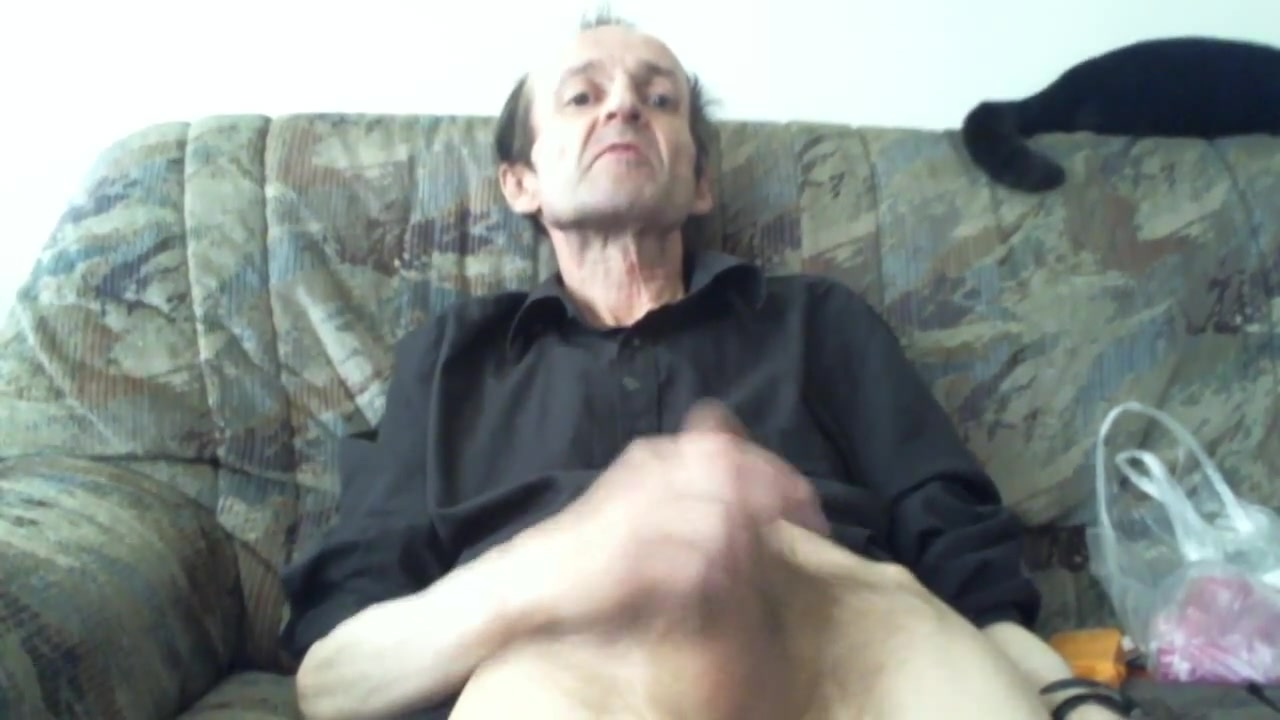 Horny older man jerking like crazy and get good orgasm buck angel s penis
