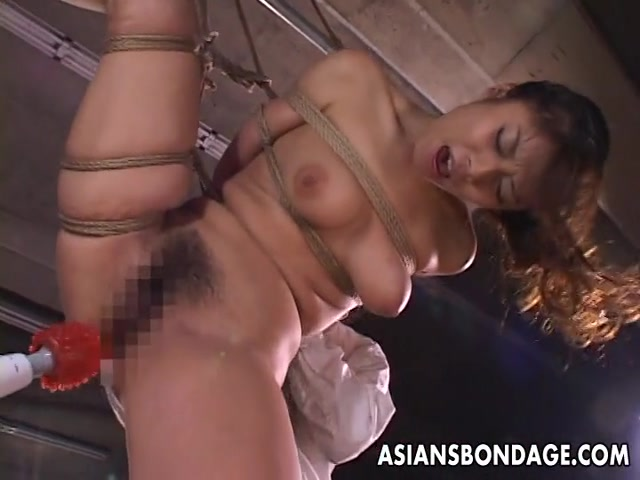 Kinky Asian babe in bondage receives a nasty dildo Most View Hentai