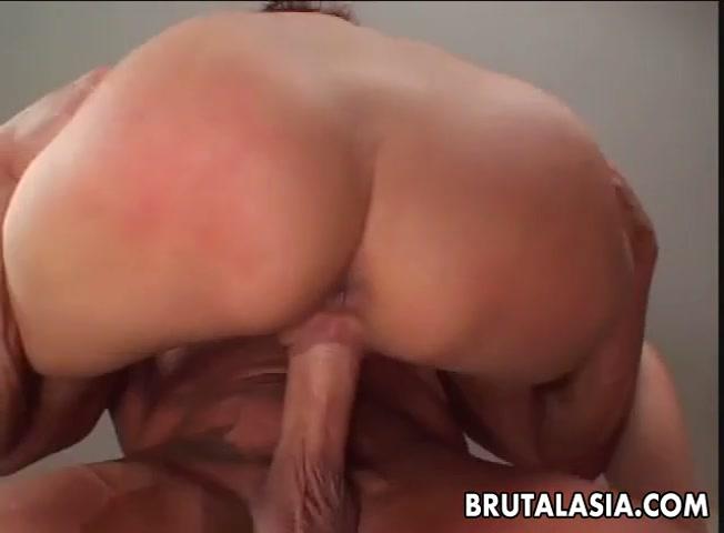 Asian slut Katsuni takes a big dick in her anus Big boobs slut lick dick and interracial