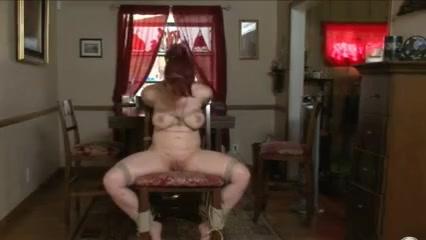 Redhead chair tied
