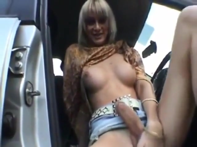 Tranny handjob in car Sweet sexy naked