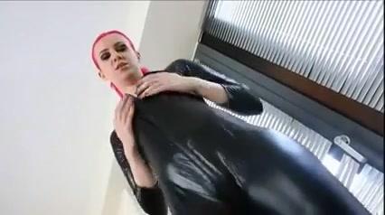 Catsuit joi Teen brunette girl in shower