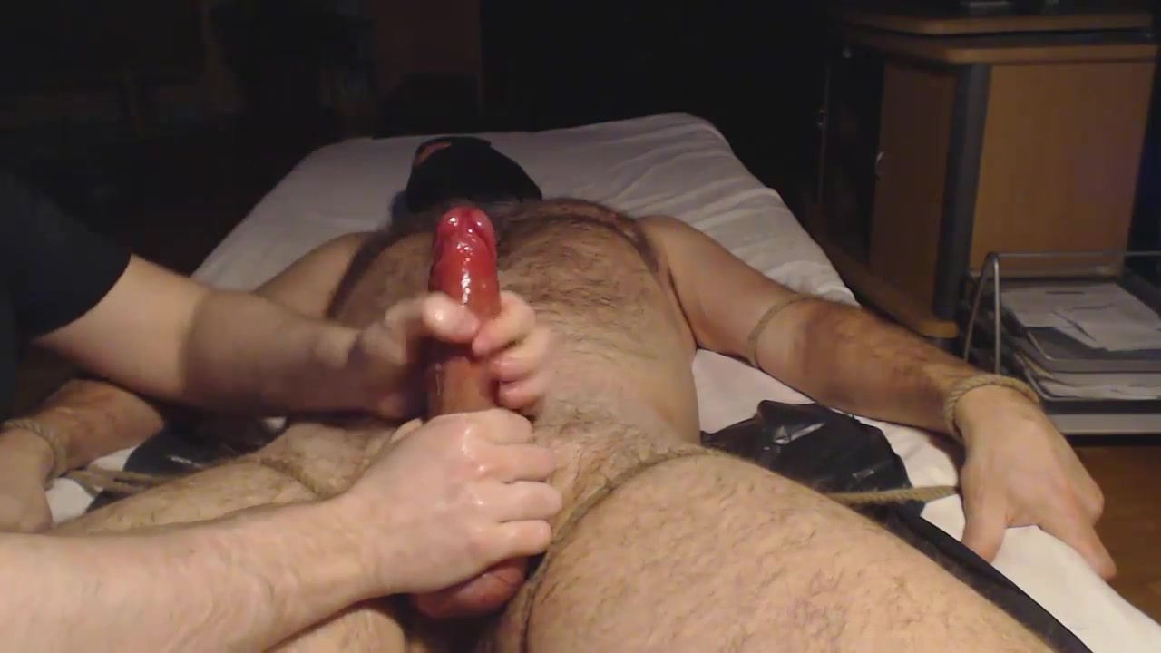 Me milk ballslap hung hairy stud - post cum tease insides of a mans boob