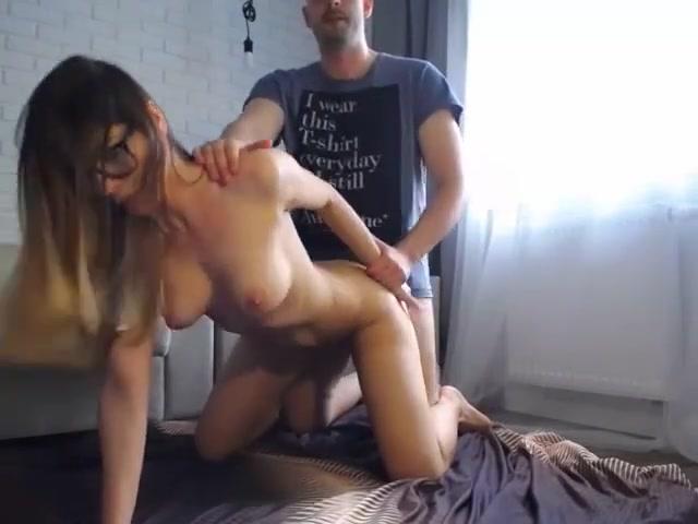 Hot skinny milf with glasses do anal slut on cam