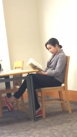 Candid college library feet shoeplay dangling college girl Naked older girls and boys