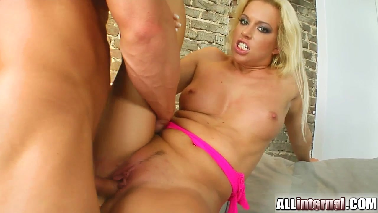 A sexy tanned blonde swung by Allinternal for a cum refill.