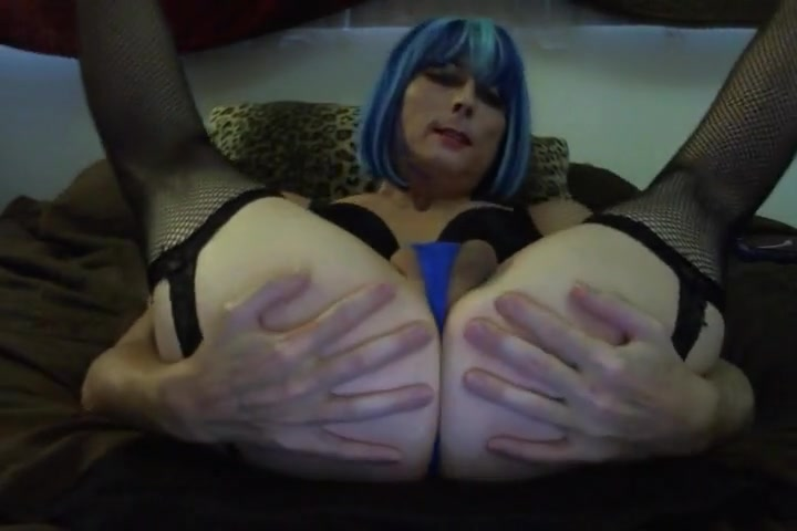 Sexy Blue Hair Tasha Dildos Ass Crossdresser Handy porno clips