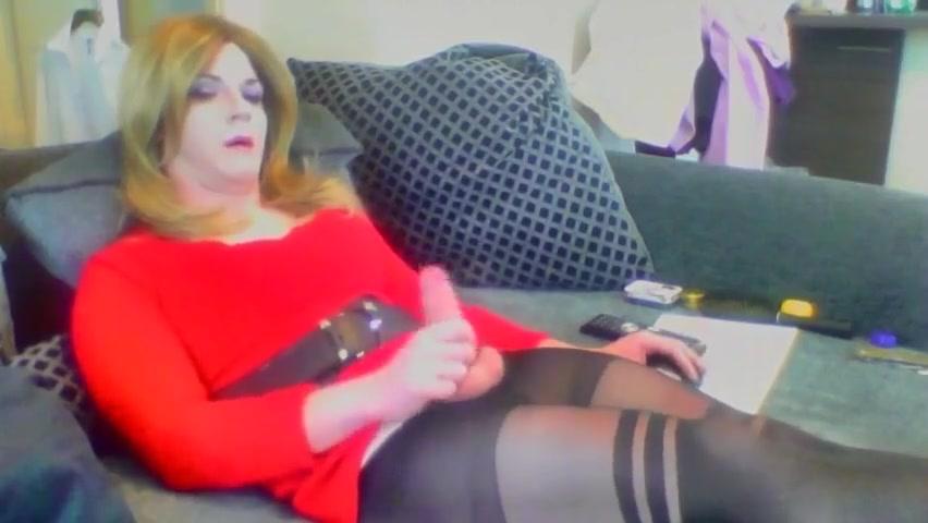 Crossdresser cumming on cam Exotic Big Tits BDSM porn clip
