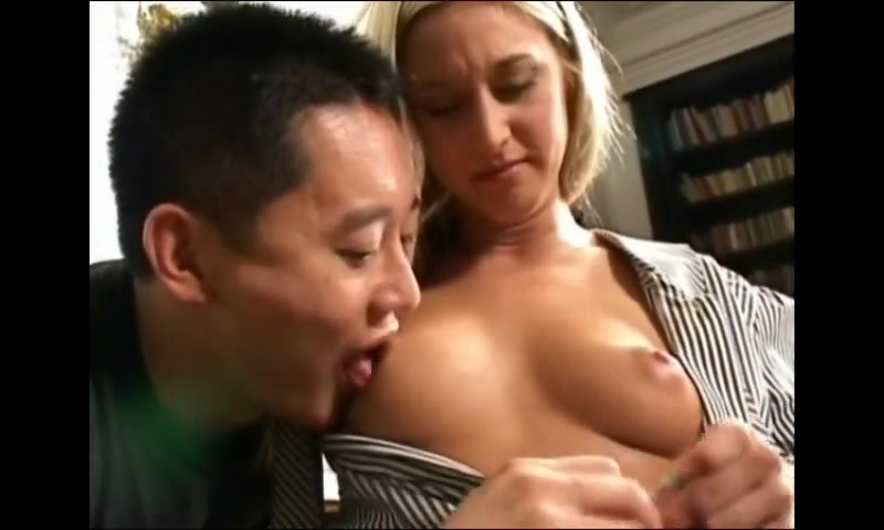 Blondes and Asian guy
