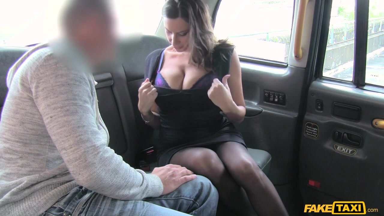 Jane in Back seat fucking for hot Romanian babe - FakeTaxi