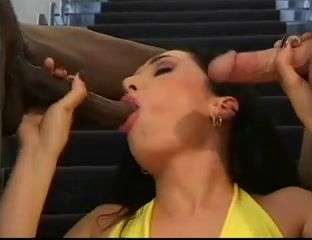 British slut Sabrina Johnson in a Fmm threesome Xhamster upskirt pussy