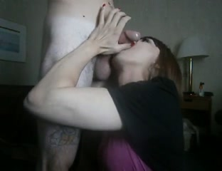 Hawt Golden-Haired bonks ladyboy that babe swallows SexxKittenCams girl puts on sexy show