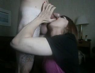 Hawt Golden-Haired bonks ladyboy that babe swallows Blond babe pussy masturbation