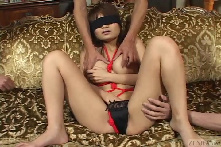Uncensored blindfolded and bound Japanese lotion play Tony de leede wife sexual dysfunction