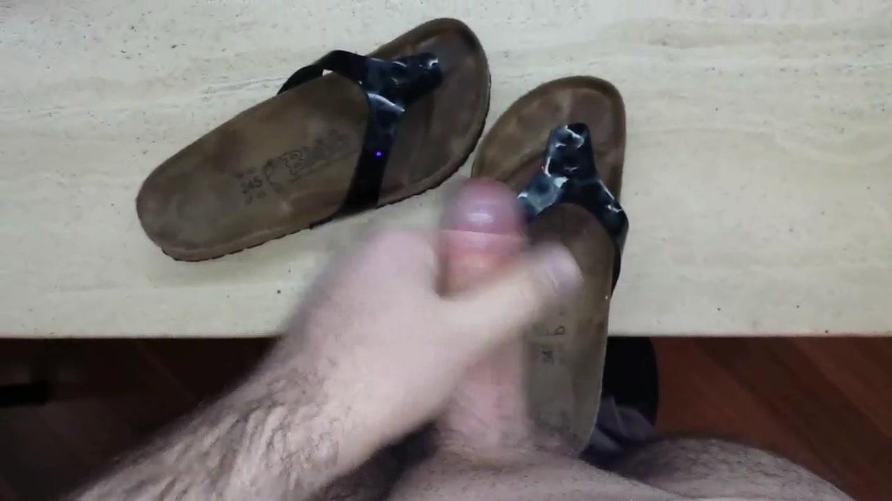 Fuck Cum Birkenstock Flip Flops... Heavy Load Orgy oil wrestling