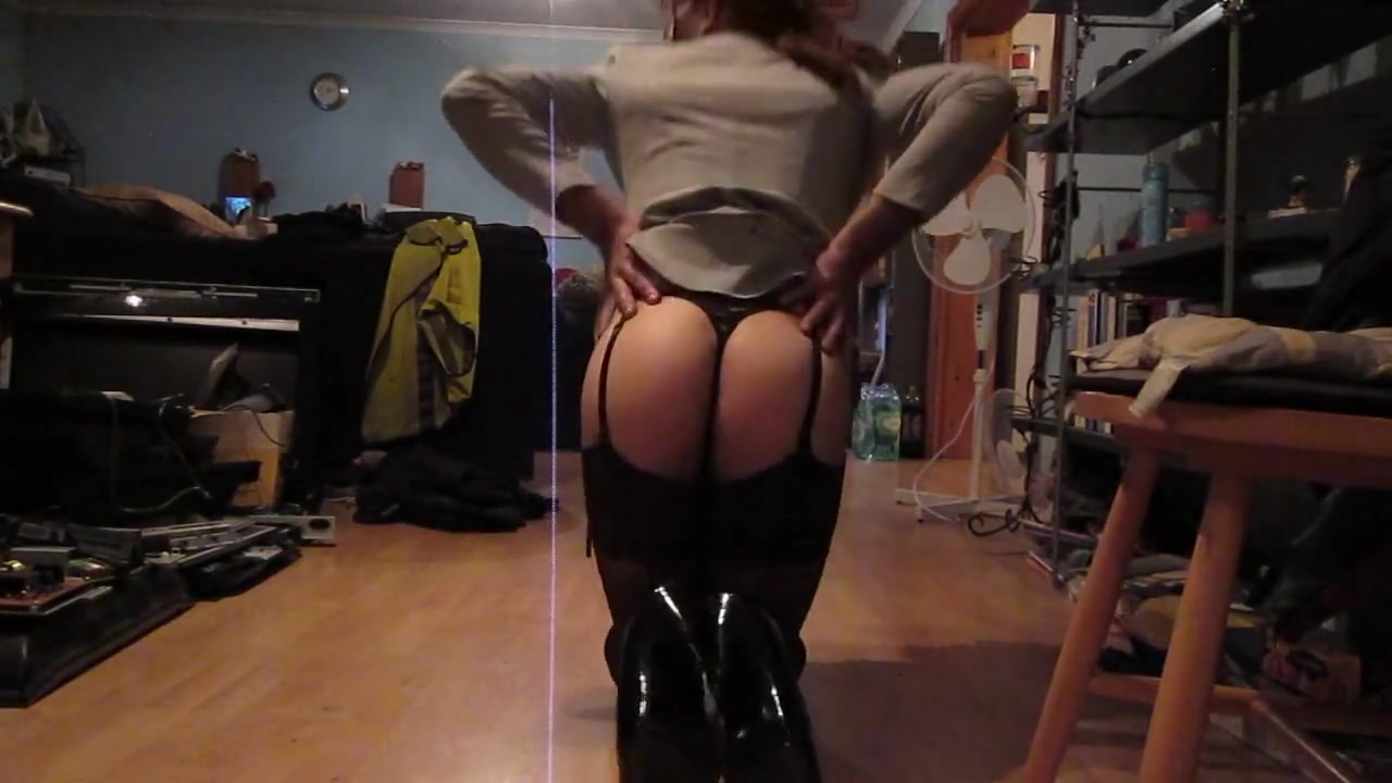 Stripping out of my sexy tight gray suit Ex girlfriend revenge porn anal