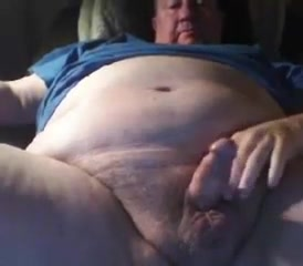 Grandpa cum on cam 6 Blonde in stockings masturbating for the camera
