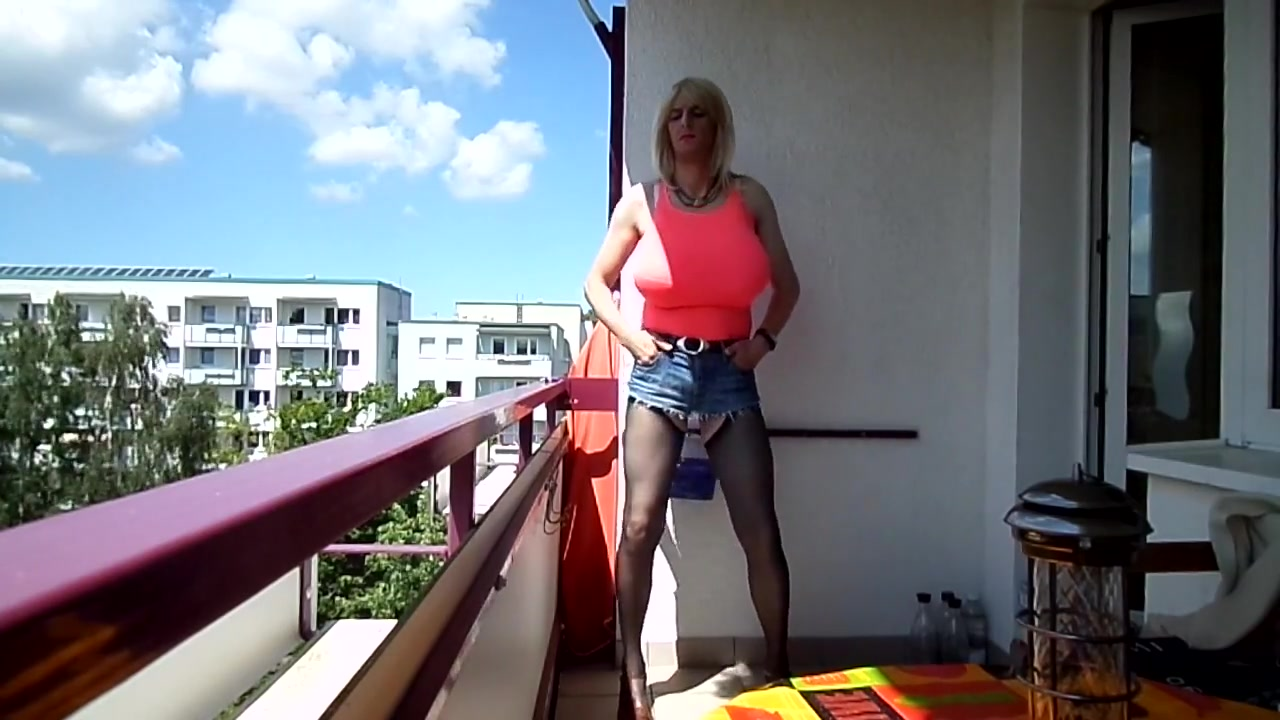 Blond Whore with Monster Tits smoking Outdoor Sexy middle aged xxx