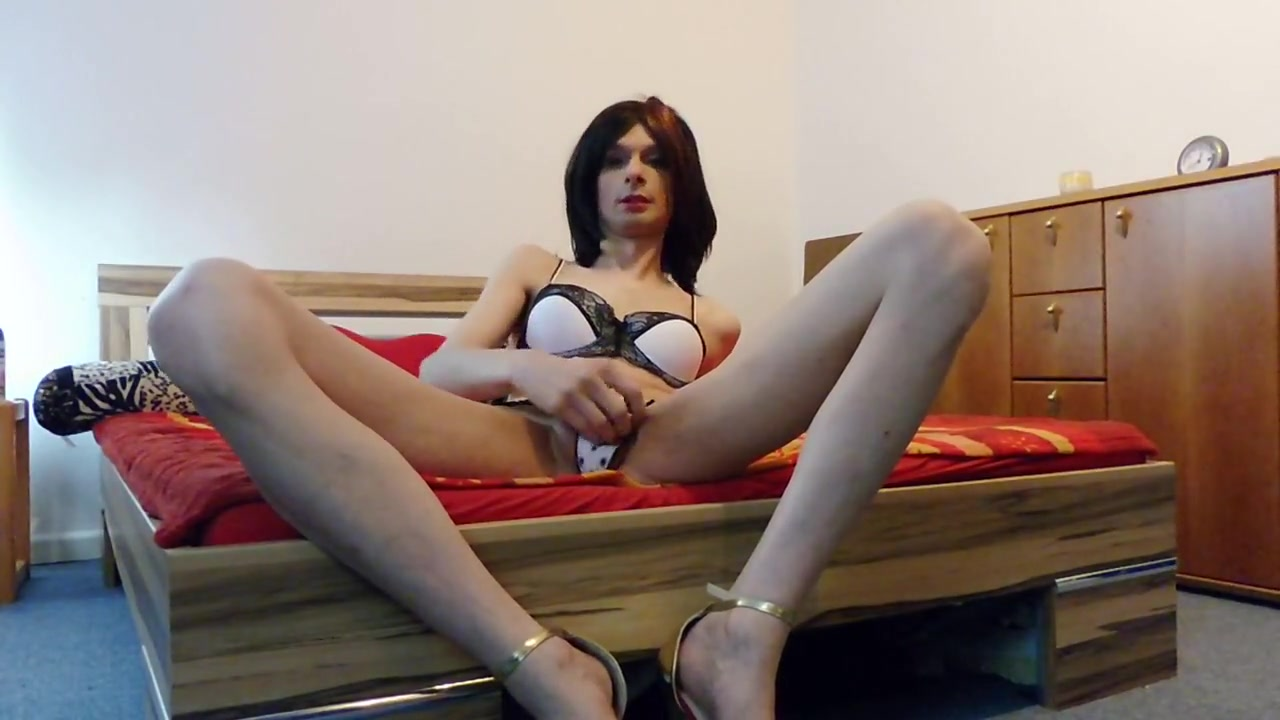 Sexy Skinny tgirl Nadine Dildo xxx hotel porn tube free hotel sex videos