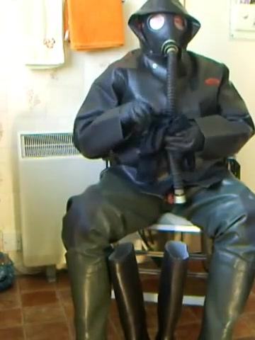 Rubber cock play and wank. Lesbian female-dominant part two