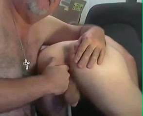 Grandpa and college girl play on cam Malumaria Malu