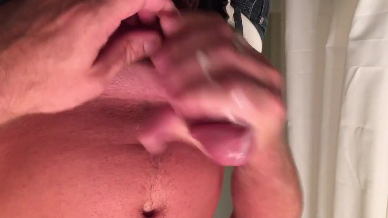 Jerking my cock off closeup lotion cumshot my dick betta den urz