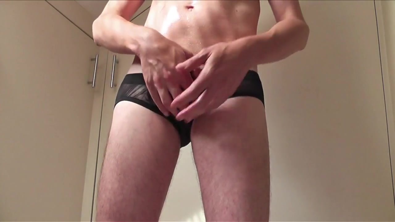 I wank and cum in sheer mesh briefs free black gay men fucking