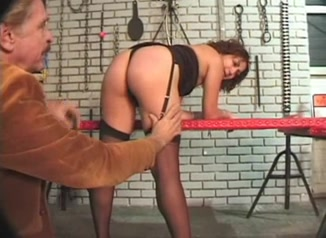 Vintage BDSM scene with a pregnant MILF free porn gay blowjob