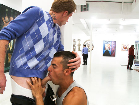 Art Gallery Fucking - OutInPublic Drink from pussy