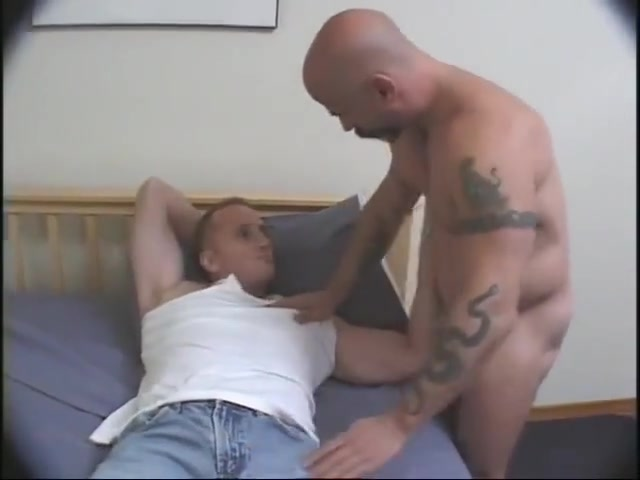Waking up the sex slave Shemale takes two cocks