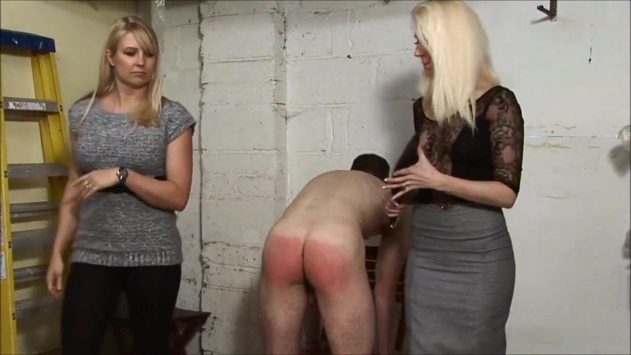 Nice Mistresses Give a Spanking in the garage (part 2) Hiachal Viedo