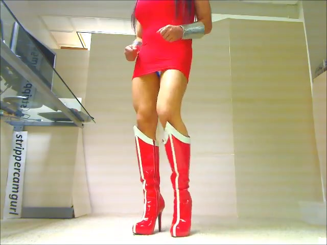 Sexy Sissy Crossdresser dancing in Wonder Woman Leotard Download vidio porno xxx