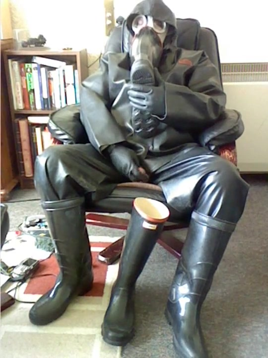 Rubber relaxation. College girl fingering herself