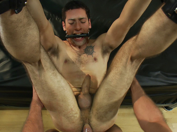 Ripped boy gets his hole shocked and filled at Mr. S Leather Store. Sex toys to make you squirt