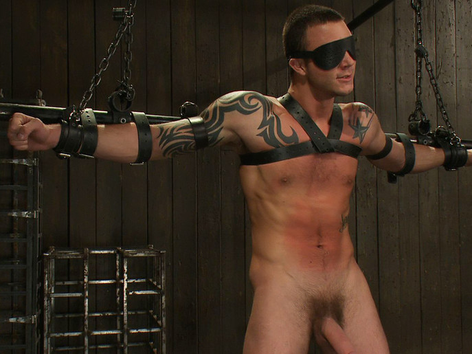 Cliff Jensen bound and beaten for the first time. Glamorous chick bound oiled