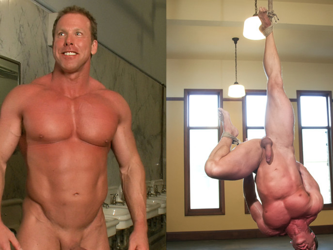 Derek Pain - The only competitive bodybuilder in the world who could handle the one leg suspension. Amateur brunette riding