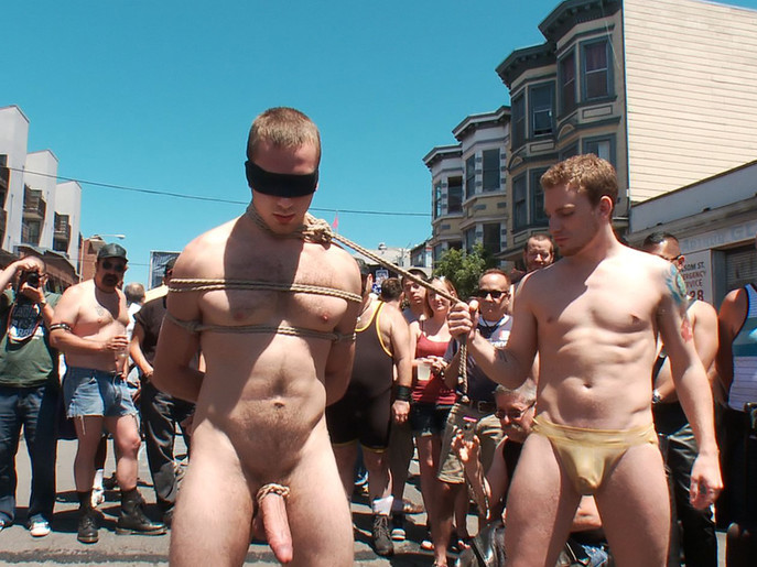 Cody Allen - Naked, Tied up, Zippered, Humiliated in Public Twink free preview gallery